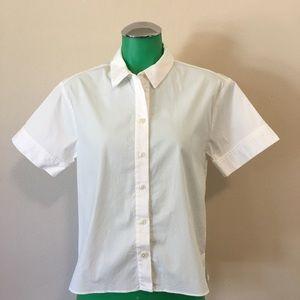 Vintage Kate Spade White Blouse Button Up Size 6